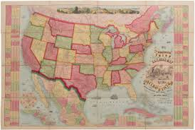 New Map Of The United States by Sold 1873 Haasis U0026 Lubrecht The American Union Railroad Map Of