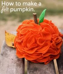 diy felt pumpkin top easy interior design idea for thanksgiving
