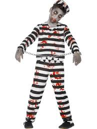 kids zombie convict prisoner fancy dress costume halloween