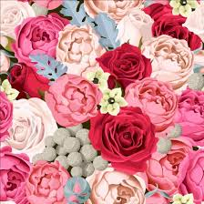 different color roses different color pattern vector vector flower vector