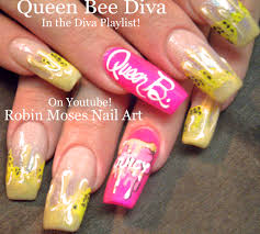 robin moses nail art queen bee nail art