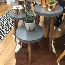 Concrete Side Table Concrete Look Side Table Tall Vintage Love Homeware U0026 Gifts