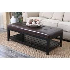 Diy Large Coffee Table by Coffee Table Appealing Rectangular Leather Ottoman Coffee Table