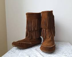 womens fringe boots size 11 s slouch boots etsy