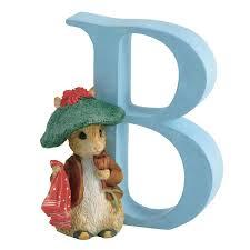 beatrix potter letter b benjamin bunny alphabet figurines