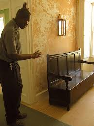 Right Furniture Martin Miller Left Discusses The Pieces Of Historic Furniture At