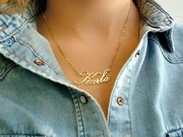 14 karat gold nameplate necklaces 25 name necklace ideas on name jewelry necklace