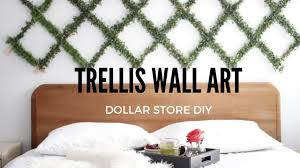 diy trellis plant wall art youtube