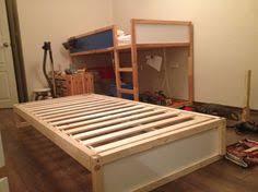 Ikea Kura Bunk Bed Ikea Kura Bed Makeover Final Product Painted The Wood Dark Grey