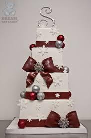 christmas wedding cakes christmas wedding cake bearkery bakery