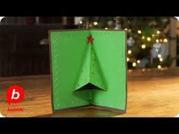 how to make a christmas tree 3 d card crafts babble youtube