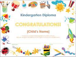 screenshot of the kindergarten diploma template invitations