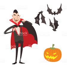 cartoon dracula vector symbols vampire icons character funny man