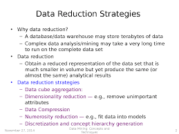 data minining data reduction docsity