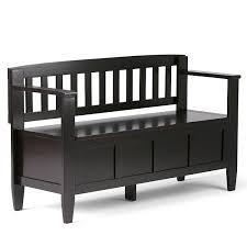 amazon com simpli home brooklyn entryway storage bench dark