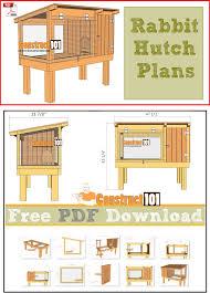 easy diy rabbit hutch plans do it your self