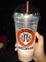 Coffe J Co j coffee banana chocolate coffee jco drink icewater