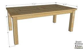 Plans For Patio Furniture by Remodelaholic Building Plans Patio Table With Built In Drink