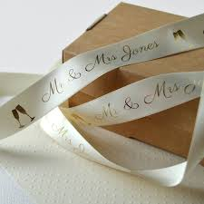 wedding 25mm personalised printed ribbon by altered chic