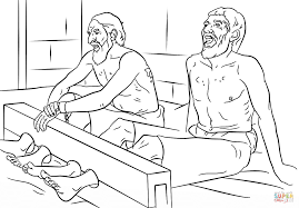 coloring page paul and silas in jail kids coloring