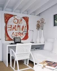 basement office home shabby chic style with deck new york