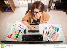freelance designer freelance designer at work stock photo image 49731995
