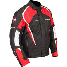 red and black motorcycle jacket buffalo storm rider textile motorcycle jacket waterproof ce