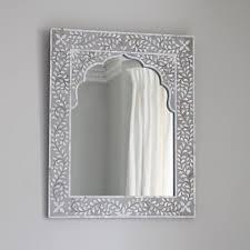 Bedroom Wall Mirrors Uk Kasbah Mother Of Pearl Wall Mirror In Steeple Grey Atkin U0026 Thyme