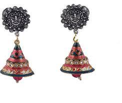 jhumki earring spargz multicolor gold bell jhumki earring for women silver