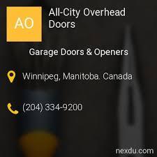 City Overhead Doors All City Overhead Doors Garage Doors Openers In Winnipeg