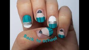 nail art facile rentrée des classes crayon youtube