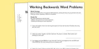 year 3 working backwards maths word problems australia