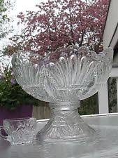 Pedestal Punch Bowl Punch Bowl Pedestal Glassware Ebay