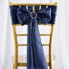 chair sashes satin chair sash 6x106 navy blue 5pcs efavormart