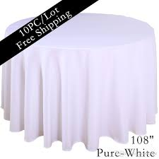 108 tablecloth on 60 table home table cloth 108 round polyester plain tablecloth cheap white