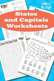 states and capitals worksheets worksheets free printable and