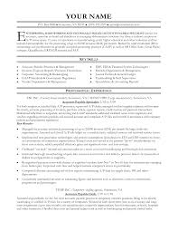 Resume Examples For Entry Level Jobs by Accounts Payable And Receivable Resume Sample Resume For Your