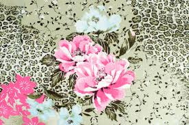 floral and cheetah pattern on fabric brown leopard pattern with