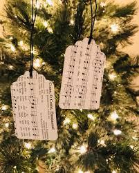 A Christmas Carol Ornaments Hymnal Christmas Carol Gift Tags