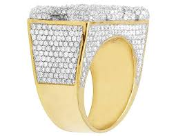 Custom Monogram Rings 10k Yellow Gold Diamond Custom Personalized 3 Letter Initial