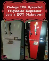 Cheap Kegerator Vintage 1954 Frigidaire Kegerator Makeover Giddy Upcycled