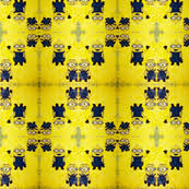 minion gift wrap minion fabric wallpaper gift wrap spoonflower