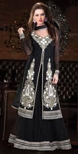 lancha dress dress black georgette lancha dress with zari work online