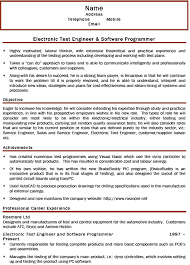 Sample Resume For Software Test Engineer With Experience by Download Automotive Test Engineer Sample Resume