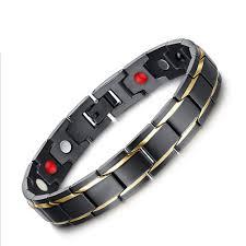 titanium magnetic bracelet black images Fashion healing fir magnetic titanium bio bracelet for men blood jpg
