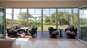 modern island beach home nanawall glass retractable wall to porch