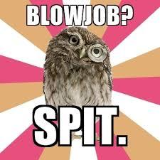 Blowjob Meme - blowjob spit eating disorder owl meme generator