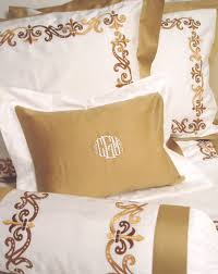 monogrammed bed linens luxury monogrammed bedding