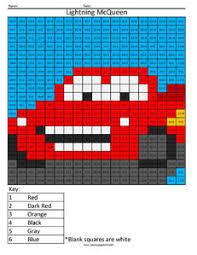 8 lightning mcqueen cars division disney math worksheets