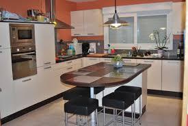 ilot central table cuisine charmant cuisine ilot table et cuisine moderne idees galerie photo